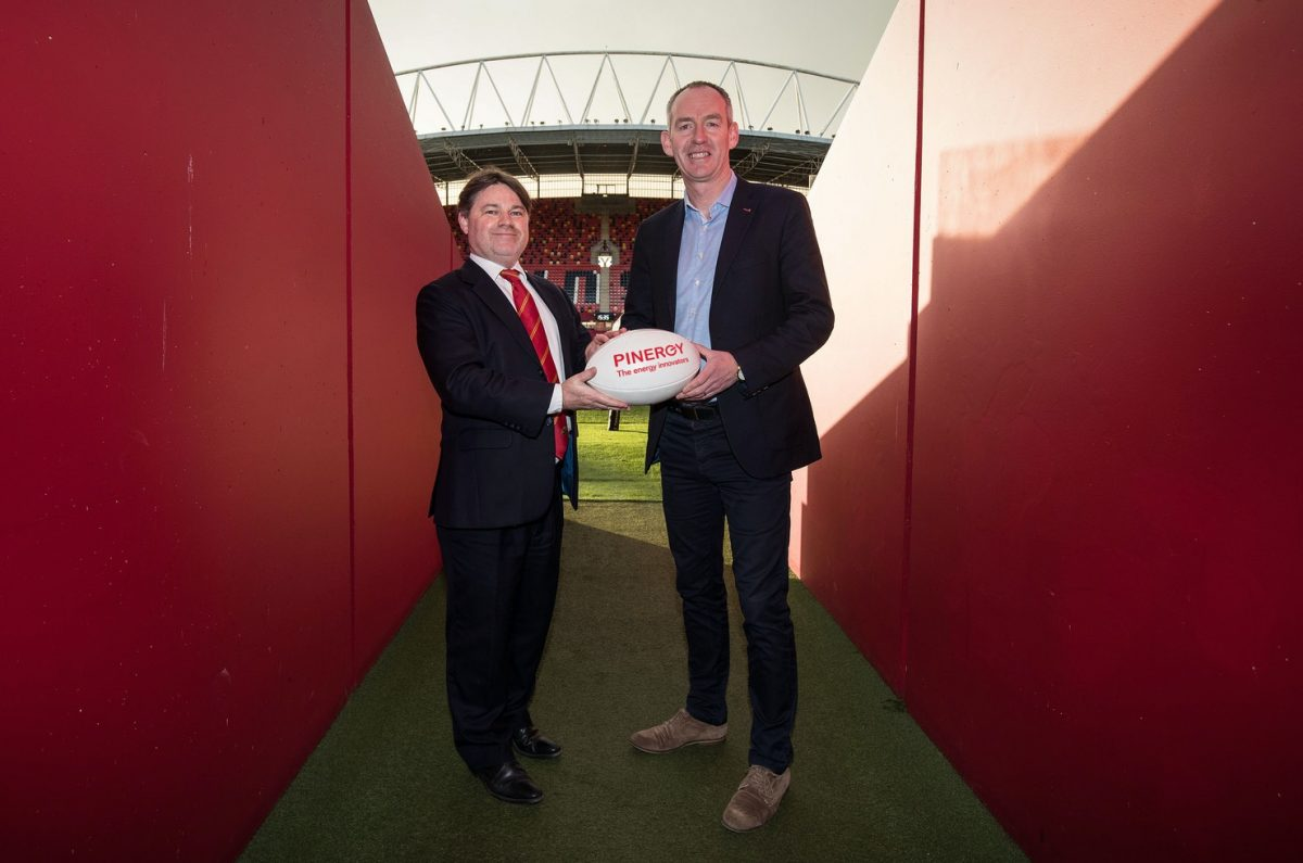 Pinergy continues to support Munster Rugby as official energy partner until the end of the 2021
