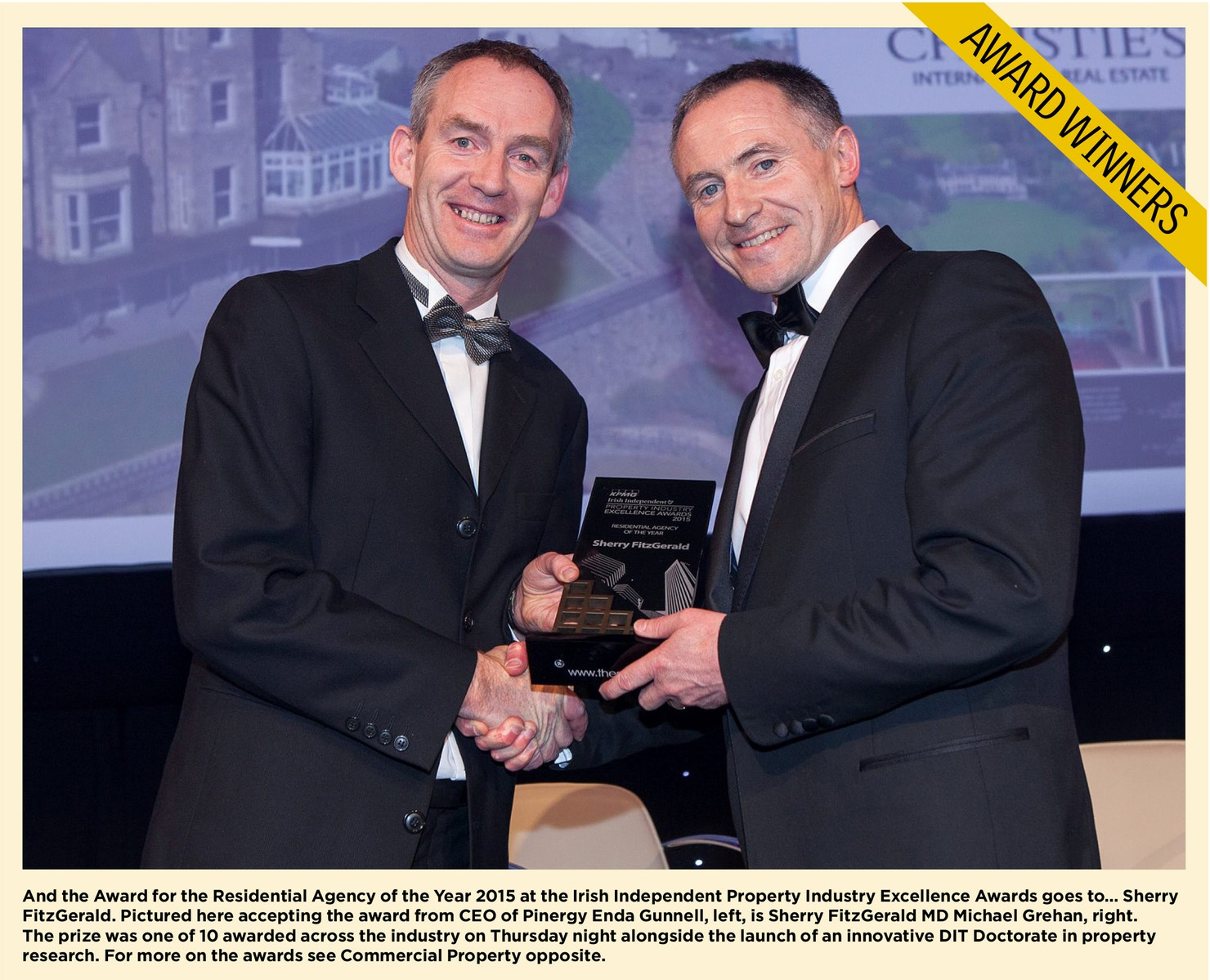 Pinergy sponsors Ireland's first irish independent property industry excellence awards